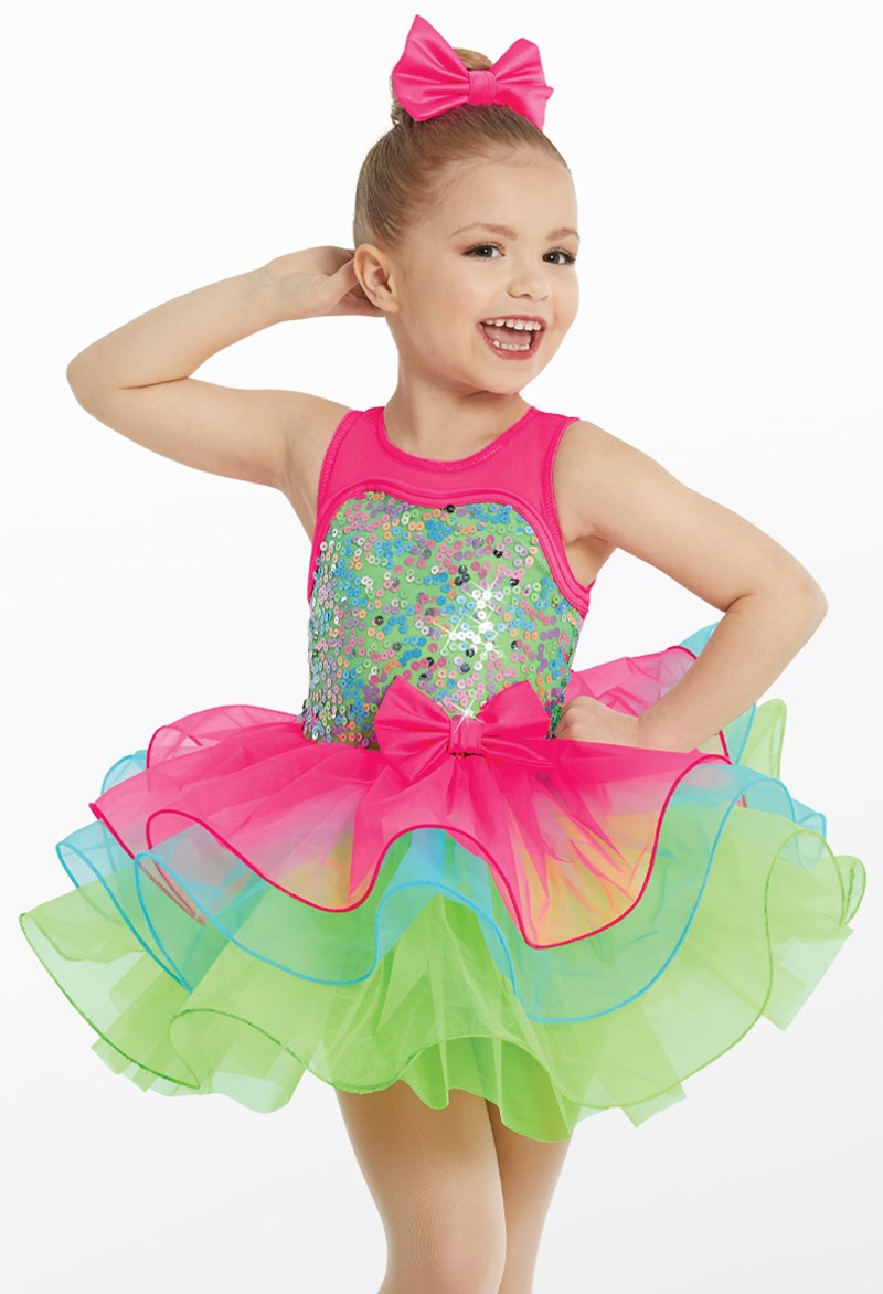 Multi Pastel Three Tier Tutu Dress Weissman