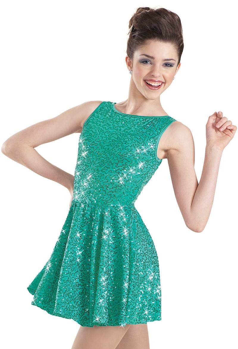 Weissman Sequin Back Bow Dress