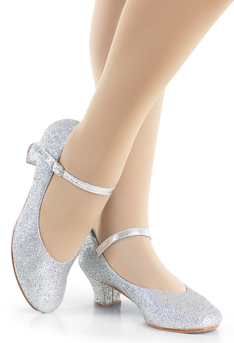 7b583f5ac69 Glitter 1.5 Inch Heel Character Shoe