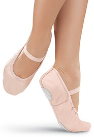 Leather Split-Sole Ballet Shoe