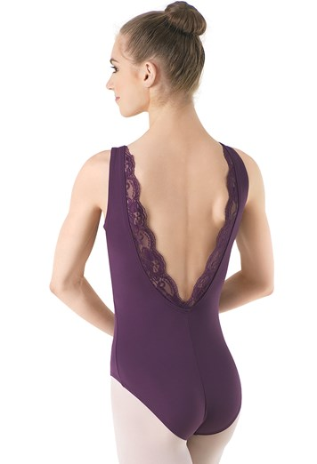 cf97d20962 FlexTek Scallop Lace Back Tank Leotard