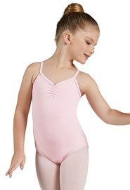 Cotton Pinch-Front Leotard