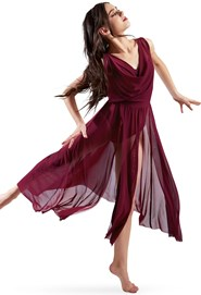 2325950dc54 Balera Double Cowl Mesh Maxi Dress