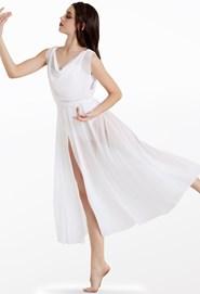 c743a104234 Double Cowl Mesh Maxi Dress Double Cowl Mesh Maxi Dress