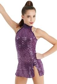6fbf70f8c7 Balera Sequin Mock Neck Dress