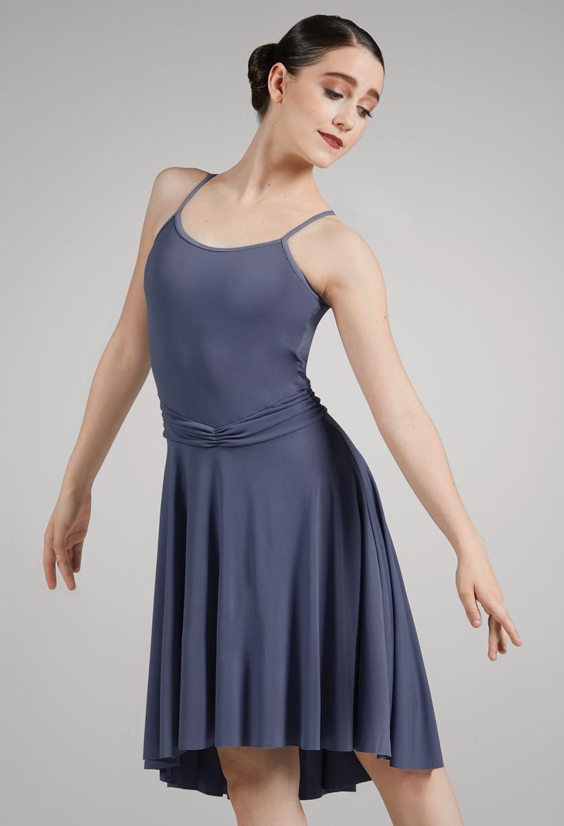 Professional adult lady girl split front lyric ballet dance dress leotard New