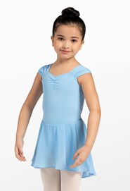 Kids' Shirred Sleeve Dress