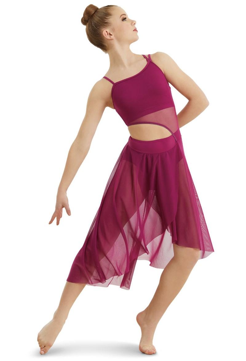 Asymmetrical Mid Length Mesh Dress Balera