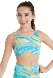 92c4730f5e2 Leo Mirage Foil Crop Top