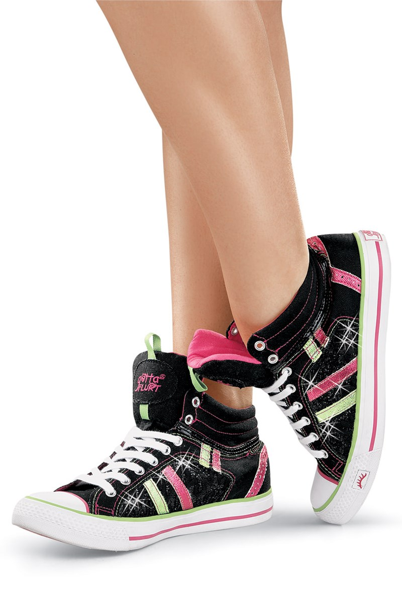 glitter high top dance sneakers gotta flurt