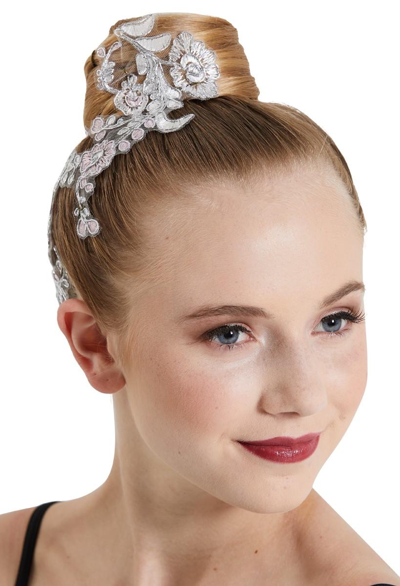 Silver Grey Hair Bun Net Ribbon Mesh elasticated Ballet Dance-wear Hair Styling