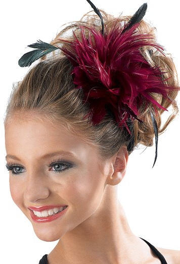 Feather Pouf Hair Clip Costume Accessory Balera™ Custom Pouf Hair Piece
