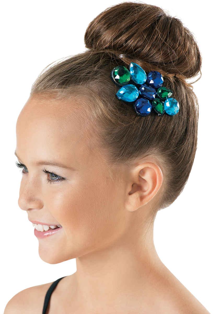 Dance-Solo-Troupes-Shows-Stage LARGE CLIP ON BOW HAIR ACCESSORY Pack of 6