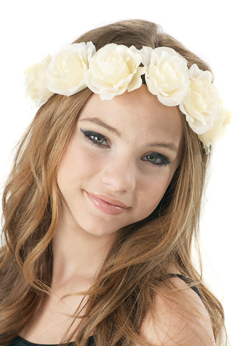 Floral and Elastic Headband
