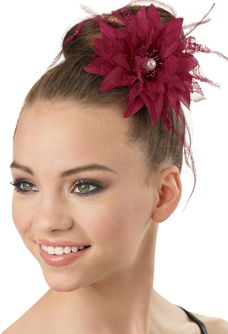 Lace Feather Pearl Flower Hairpiece Balera