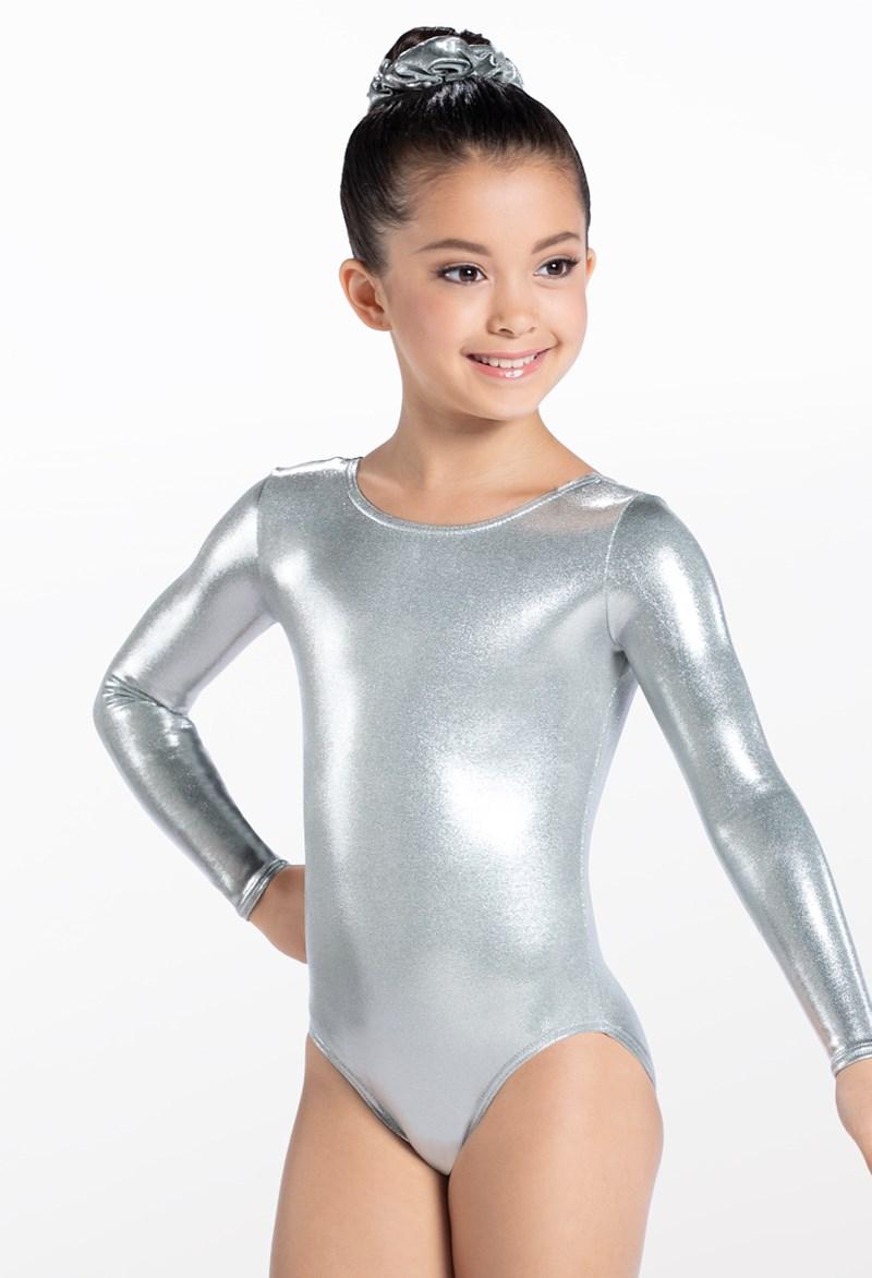 49d0f4460 Metallic Long Sleeve Gymnastic Leotard