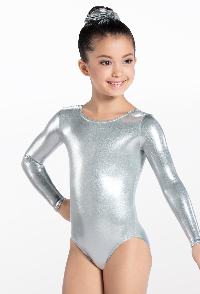 Long Sleeve Metallic Leotard  sc 1 st  Weissman & Metallic Long Sleeve Gymnastic Leotard | Balera™