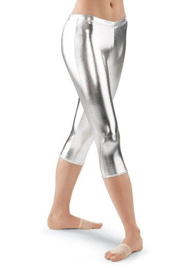 Metallic Capri Leggings; Gold, Silver Balera