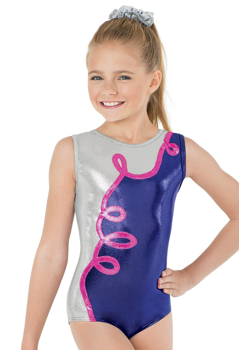 13559997fa70 Loopy Metallic Ribbon Gym Tank Leo
