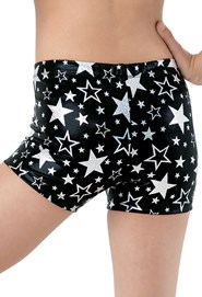 Hologram Star Print Shorts