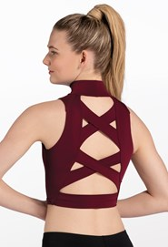 Crop Top With Crisscross Back