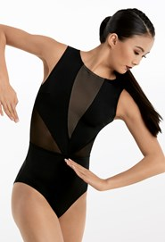 7a6c67bd53fd Sleeveless Illusion Leotard Sleeveless Illusion Leotard