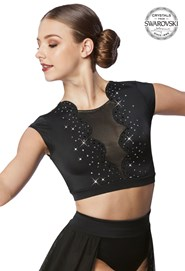 2bfde0ef9e587f Crystal Scallop Crop Top