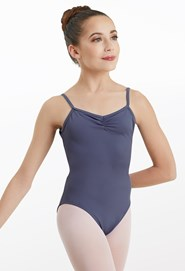 Low-Back Pinch-Front Leotard
