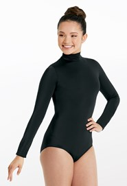 Matte Nylon Turtleneck Leotard