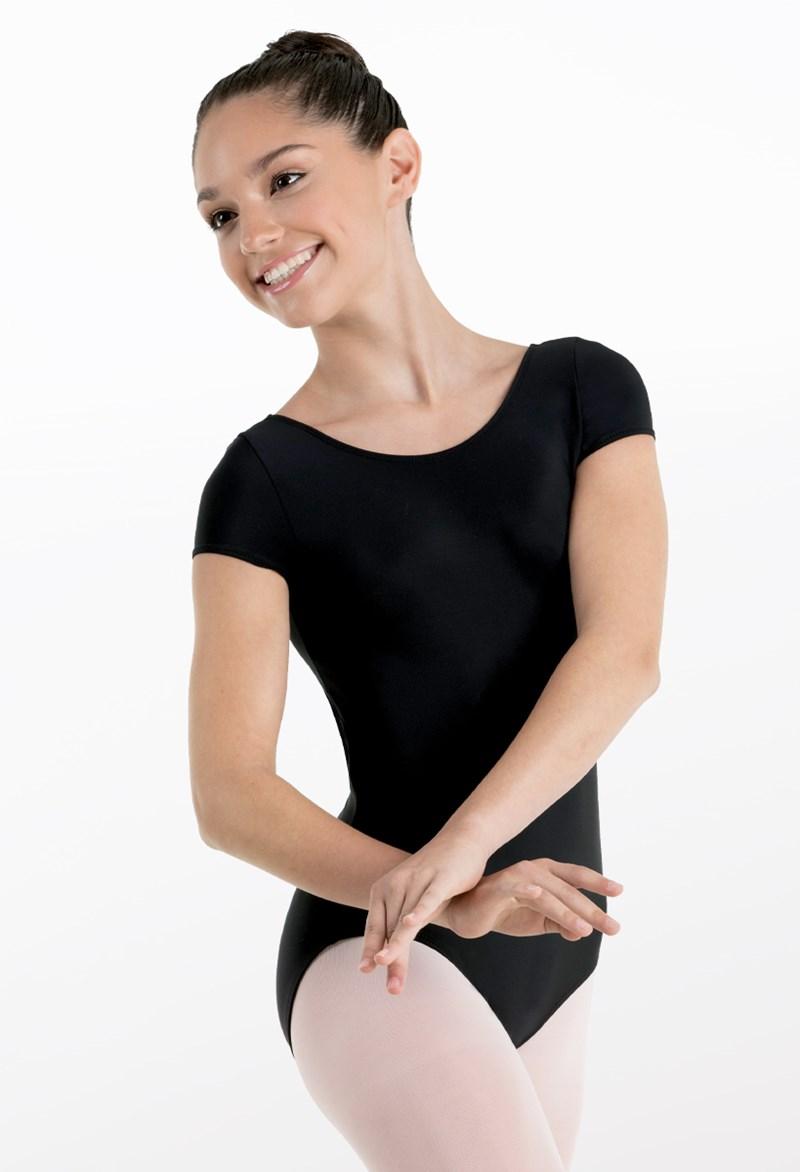 8c69e2e70 Short Sleeve Matte Nylon Dance Leotard
