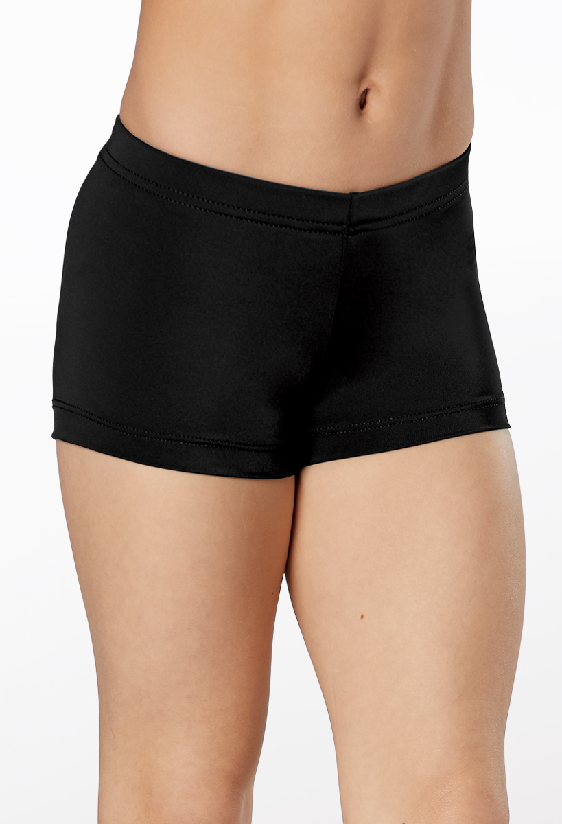 NWT Body Wrappers Black Nylon Spandex Trunks XXL adult French cut leg