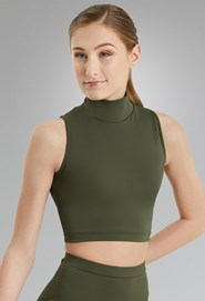 63305d01019dc9 Olive Green Top | Dancewear Solutions®