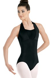 Halter Pinch-Front Leotard