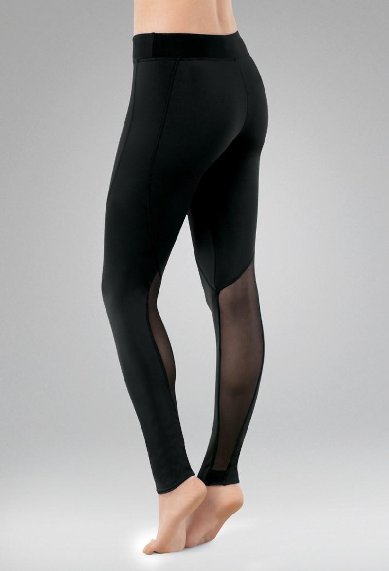 4a62508b21e5e3 Mesh Calf Ankle Length Dance Leggings | Balera™