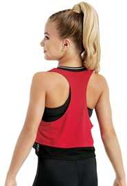 Sporty Crop Top With Mesh