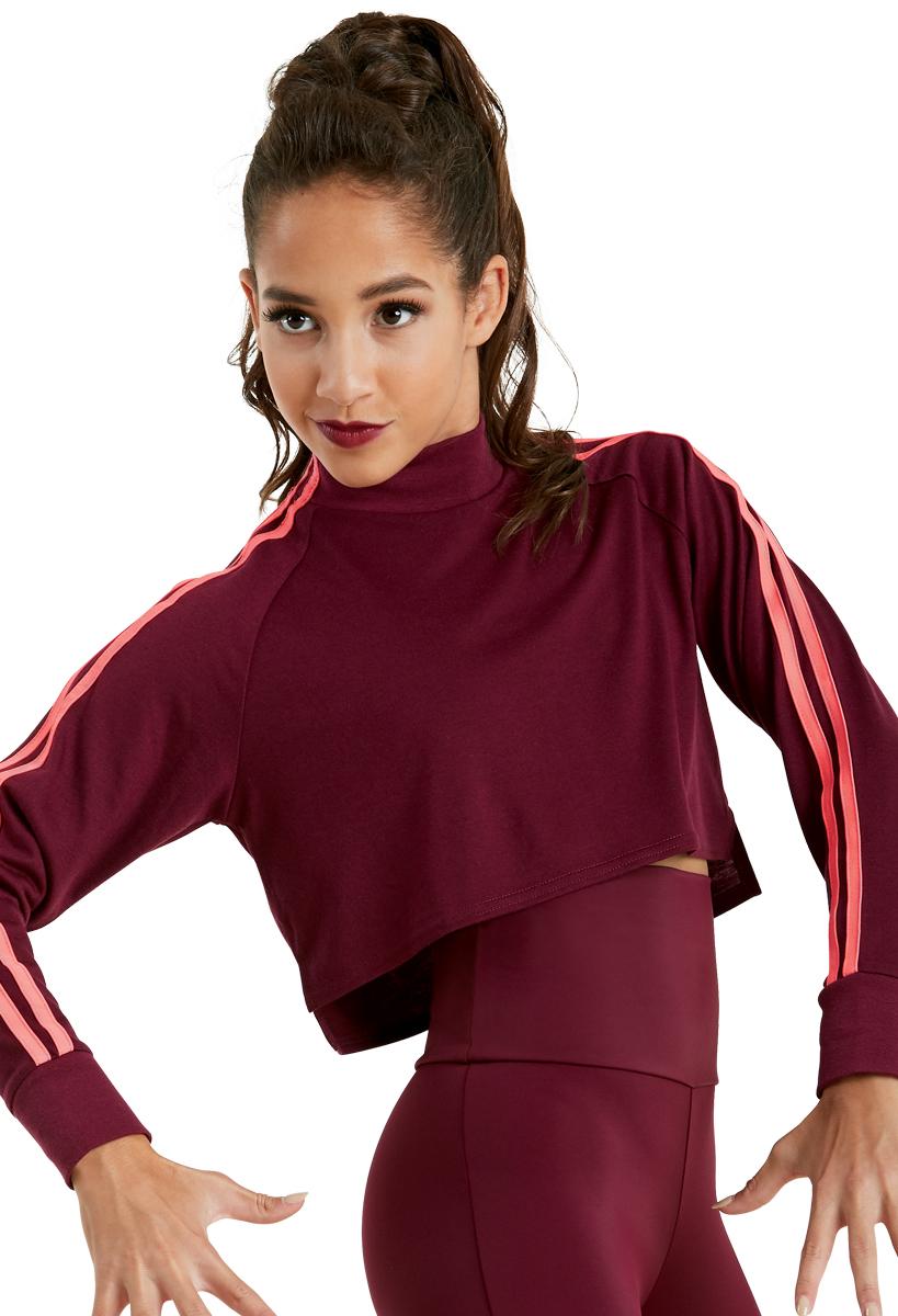 Gia Mia Girls Big Glitzy Lace Hoodie Jacket Dance Stretch Mesh Jazz Hip Hop Performance Team
