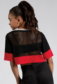 Cropped Sporty Mesh Tee