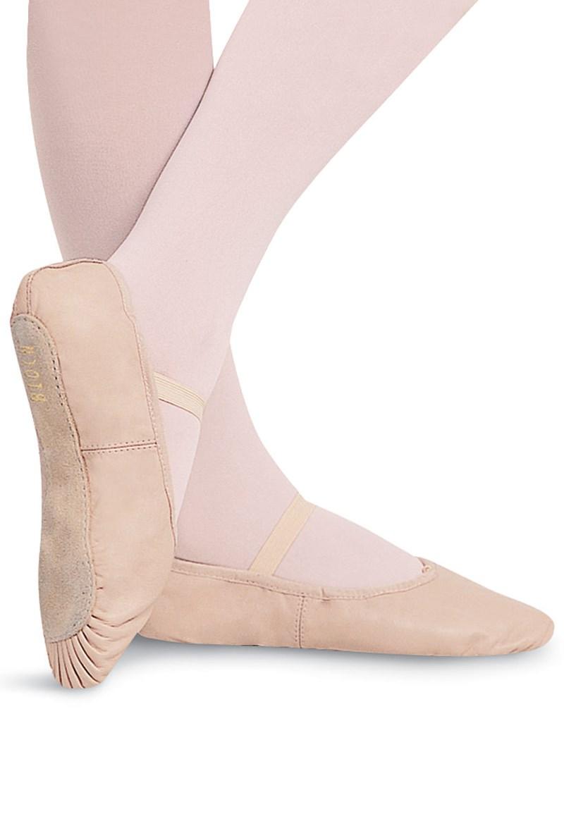 61dbf59f8a75 Dansoft Leather Full-Sole Ballet Shoe