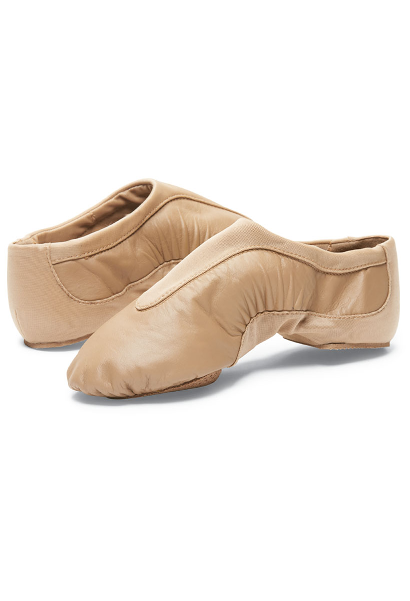 CP05 Adult Tan Capezio show stopper split sole leather jazz shoes New Caramel