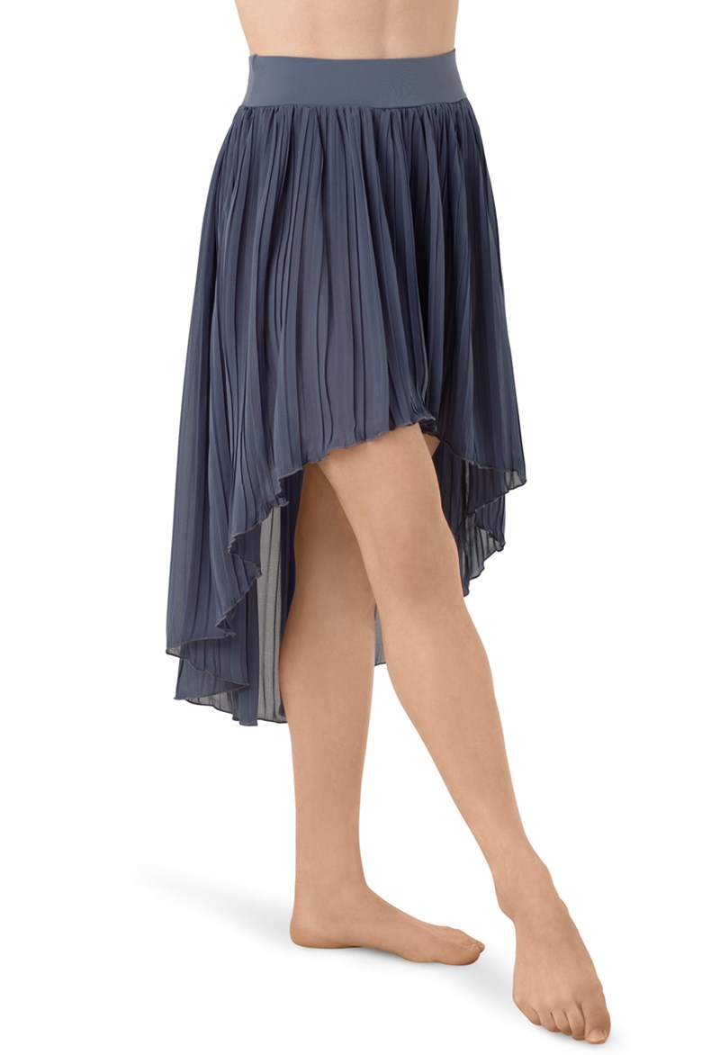 pleated georgette high low skirt balera
