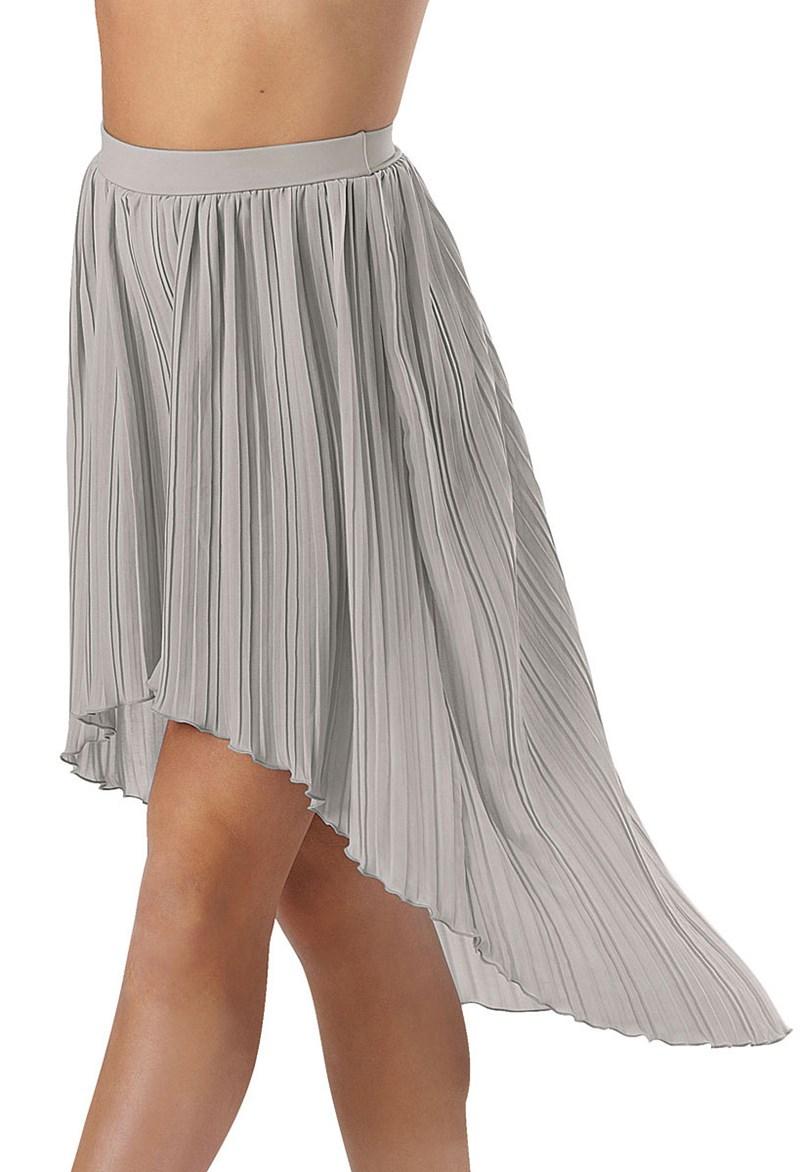 pleated high low hem skirt balera