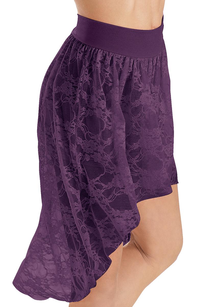 Balera Skirt Girls Bottoms for Dance Womens High Low Short Skirt with Elastic Waistband for The Studio