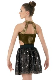 Mesh Sequin Circle Skirt