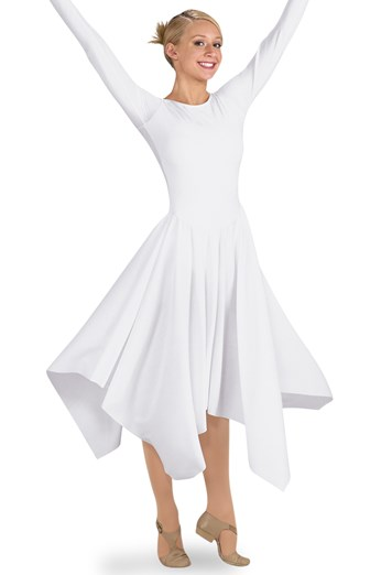 Spiritual Expressions LONG-SLEEVE HANDKERCHIEF DRESS