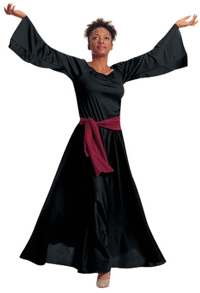 bell sleeve dress - Christmas Praise Dance