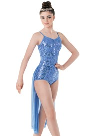 Sequin Lace Leotard with Skirt