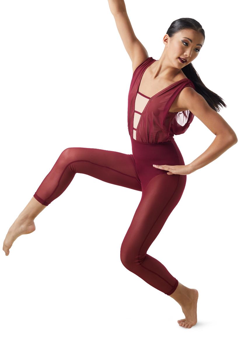 My All Dance Costume Flocked Satin Vest Velvet Tap Pants Clearance Adult Large