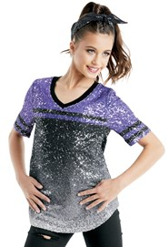 34784ce23f Purple Sequin Top