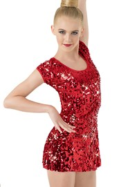 Ultra Sparkle Cap-Sleeve Dress