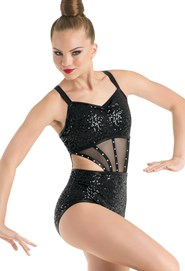 Strappy Sequin Leotard